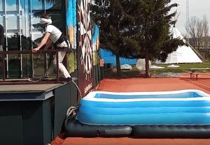Fake Bungee Jumping Prank